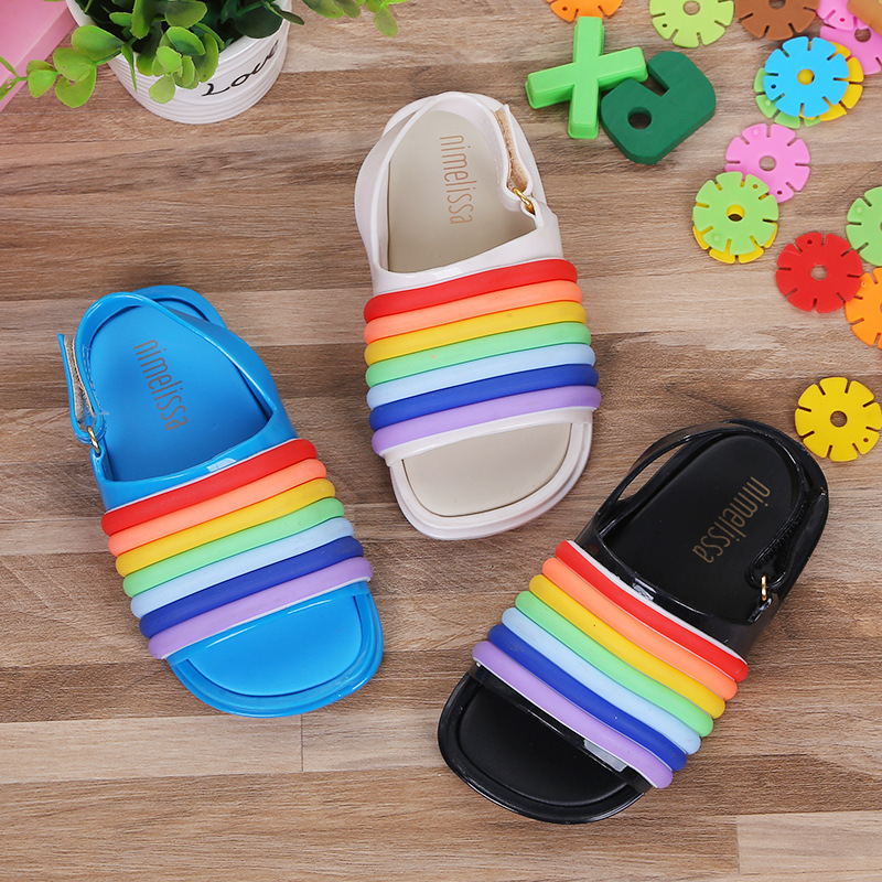 14 18cm Rainbow Sandals 2018 New Rainbow Jelly Sandals