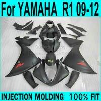 Для Yamaha R1 2009 2012 Обтекатели (матовый черный) 09 Инъекции обтекатель комплект ll45