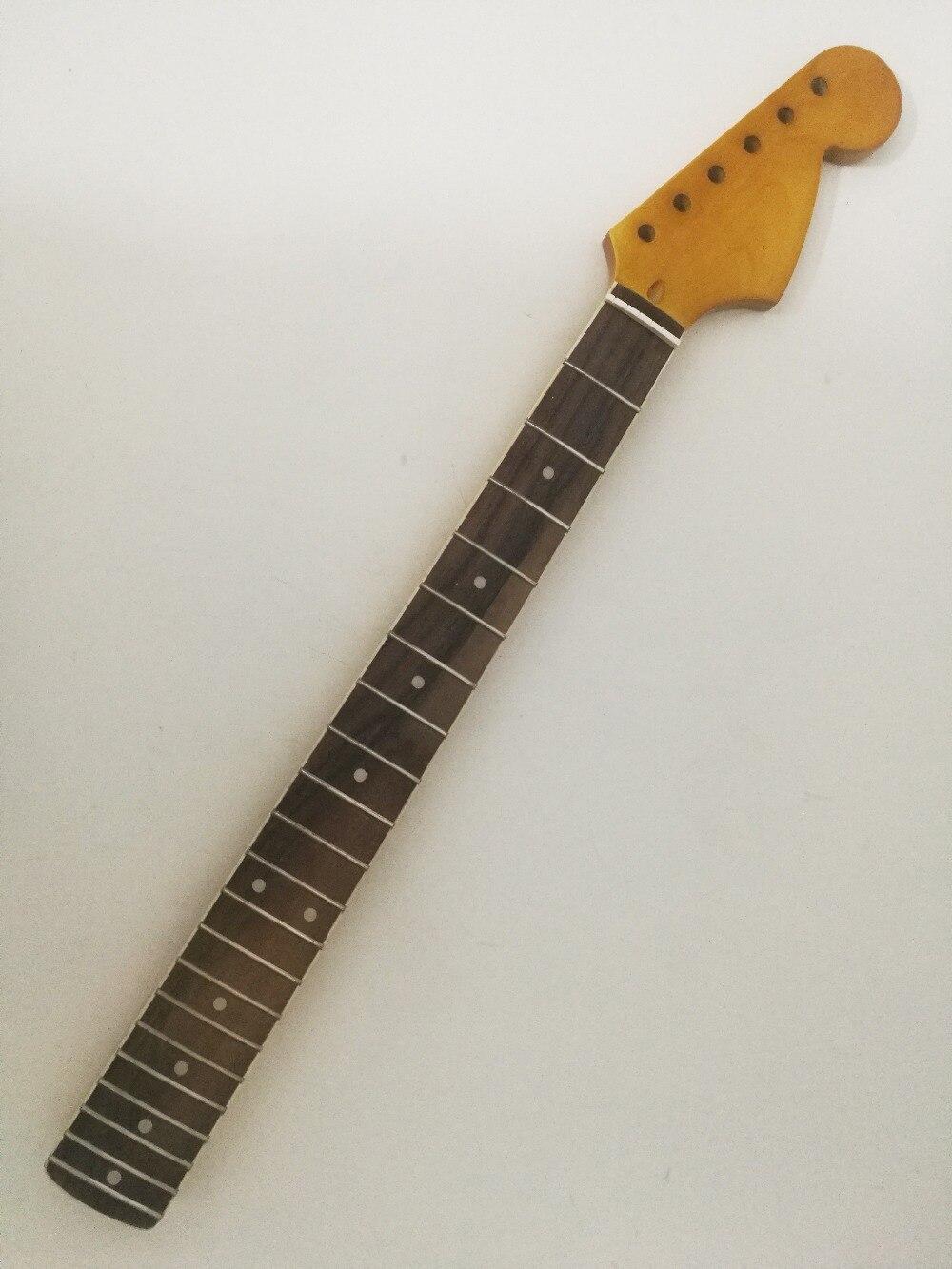 Maple Guitare Électrique Cou 21 Frette 25.5 pouce Touche Palissandre Vintage Jaune Double Action Truss rod