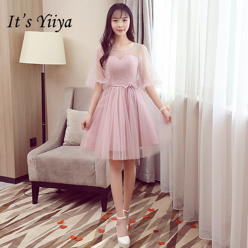... women s gown wedding party bridesmaid dress BN501. US  20.90. It s  YiiYa Strapless Lace Knee-length Bridesmaid Dresses Elegant Bow Pure Color  A-line 72a5aa58433a