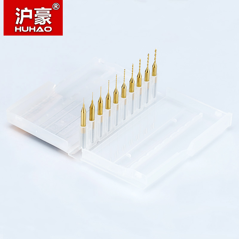 HUHAO 10PC Titanium coat Carbide PCB mini taladro Bit 0.2mm a 1.1mm - Broca - foto 5