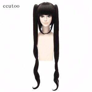 Image 1 - Ccutoo 120 cm 검은 색 긴 합성 가발은 던전 hestia 코스프레 가발에서 소녀들을 데리러 오는 것이 잘못되었습니다.