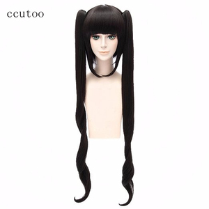 Image 1 - ccutoo 120cm Black Long Synthetic Wig Is It Wrong to Try to Pick Up Girls in a Dungeon Hestia Cosplay Wig With Chip Ponytails