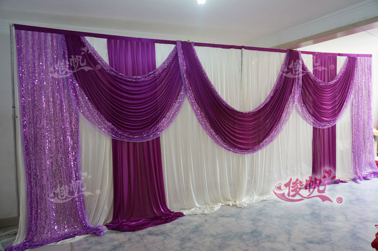 Wholesale And Retail 3x6m White And Burgundy Wedding
