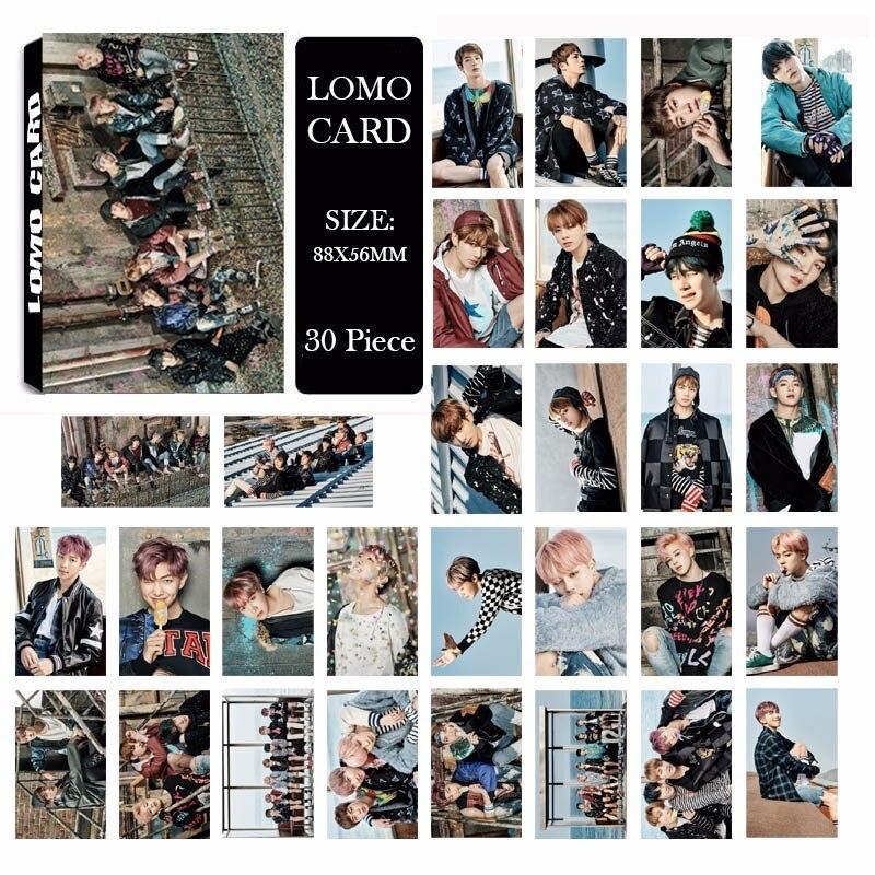 Album Lomo-Cards Walk-Alone JIMIN Bangtan KPOP Boys New-Fashion NEVER YOU Paper Self-Made