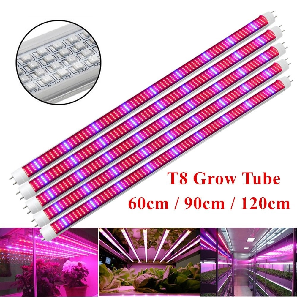 [5pcs/Pack] Led Plant Grow Light SMD2835 Hydroponic Systems Grow Led Bar AC85~265V 0.6M 0.9M 1.2M Led Grow Strip Lights T8 <font><b>Tube</b></font> image