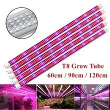 Barra de Led de cultivo SMD2835, luz Led para cultivo de plantas, 5 unidades por paquete, AC85 ~ 265V, 0,6 M, 0,9 M, 1,2 M, tubo T8