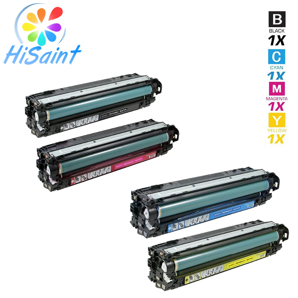 Hisaint Listing 4-pack for HP CE264X, CF031A, CF032A, CF033A Compatible Toner Cartridges for HP Color LaserJet CM4540, CM4540f