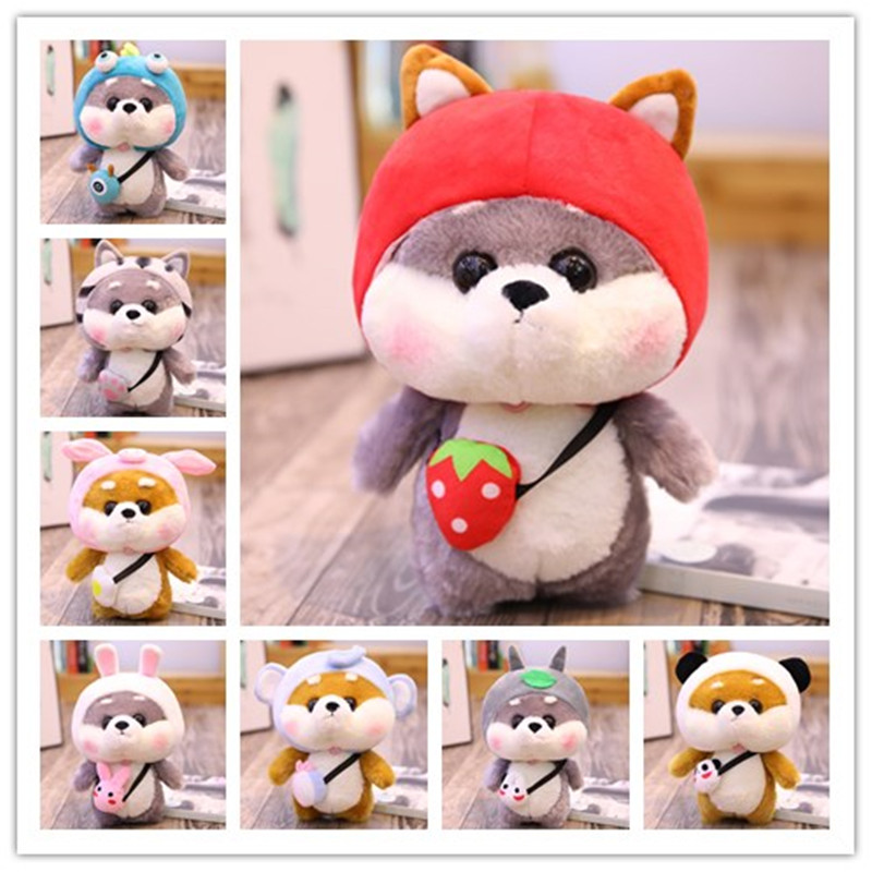 Cute Plush Dog Toys Shiba Inu Stuffed Animal Doll Cospaly Rabbit Totoro Kawaii Appease Funny Toy Kids Christmas Gift Home Decor
