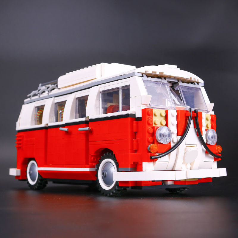 Lepin 21001 City Series The Volkswagen T1 Camper Van Kit Building Block Bricks Action Figure Car Toys for Children 10220 1354Pcs 1713 city swat series military fighter policeman building bricks compatible lepin city toys for children