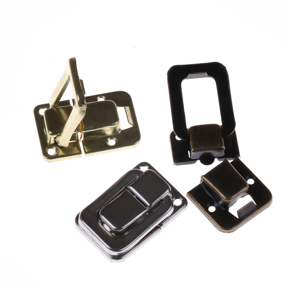 4pcs/lot Practical Silver Fastener Toggle Lock Latch Catch for Suitcase Case Bag Parts Accessories