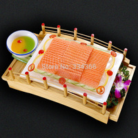 Japanese Wooden Sushi Bridge Seafood Container Wooden Dishes Fresh Seafood of Sushi 37cm Free Shipping Product Specifications: