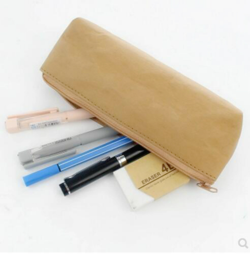 washable kraft paper pencil box students simple retro pencil bag degradable storage bag stationery box school office supplieswashable kraft paper pencil box students simple retro pencil bag degradable storage bag stationery box school office supplies