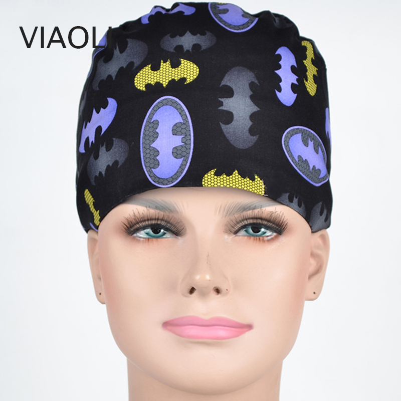 hot sale Operating room hat and surgical caps for men and women with sweatband cotton Medical caps pet doctor hats