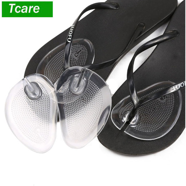 704290302d900a Tcare 1Pairs Soft Silicone Flip Gel Cushions Pad Toe Protectors for Thong  Sandal Flip Flop Gel