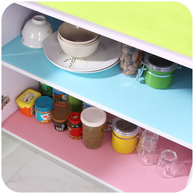 Great Colorful Damp Proof Refrigerator Mat Cabinet Paper Drawer Table Mats  Cupboard Pad Kitchen Accessories Decoration