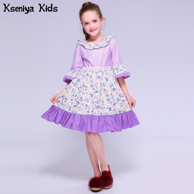 4f9f1c2759ea Kseniya Bambini di Autunno della Molla Delle Ragazze Viola Per Bambini Della  Novità di Carnevale Lolita