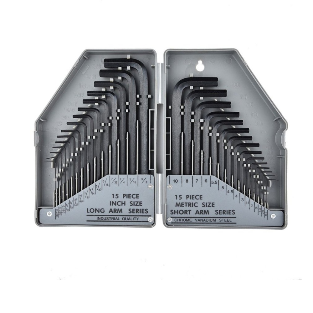 30PCS/SET Durable Hex Key Wrench Set Allen Key Set Precise Manual Tool For Auto Repair Wrenches Spanners Hand Tools