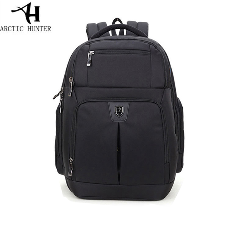 Men Laptop Backpack 15. 6inch Waterproof Nylon Backpack Business Travel Large Capacity Bagpack  BLack Gray School Backpack pongwee nylon gray backpack waterproof men s back pack 15 6 inch laptop mochila high quality designer backpacks male escolar