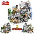 Строительные блоки  совместимые с Legoingly  горная пещера с кирпичами лифта  обучающие игрушки для детей  1000 шт.