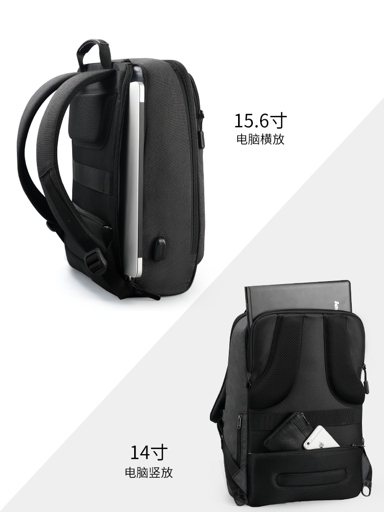 Image 5 - Tigernu  Multifunction USB charging Backpack Travel Men 14 15.6 inch Laptop Bag Backpacks For Teenager School bag  for Teens-in Backpacks from Luggage & Bags