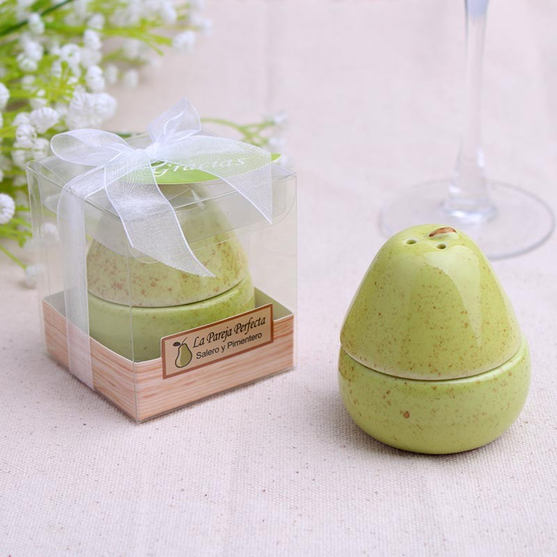 50set Pear Salt Pepper Shakers Ceramic The Perfect Pair Wedding