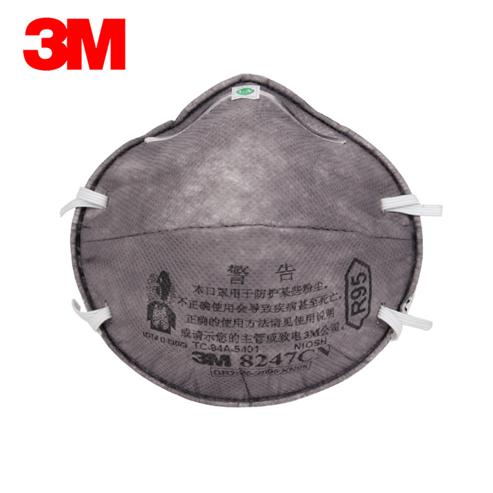 3M 8247 R95 Respirator Mask Activated Carbon Surface Filter Mask Against Dust Particles Welding Paint Fiber Dust Protective Mask 1sheet matte surface 3k 100% carbon fiber plate sheet 2mm thickness