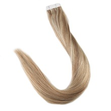 Full Shine Remy Tape in Hair Extensions Piano Color #10 and #613 Highlight Blonde Human 40Pcs Per Package 100g