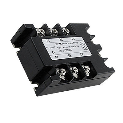 High quality AC to AC Three 3 Phase Solid State Relay SSR 40A 90-280VAC 380V AC kzltd three phase fully isolated ac phase shift voltage regulator module 120a 4 20ma 0 5v to 380v ac ssr relay three phase rele