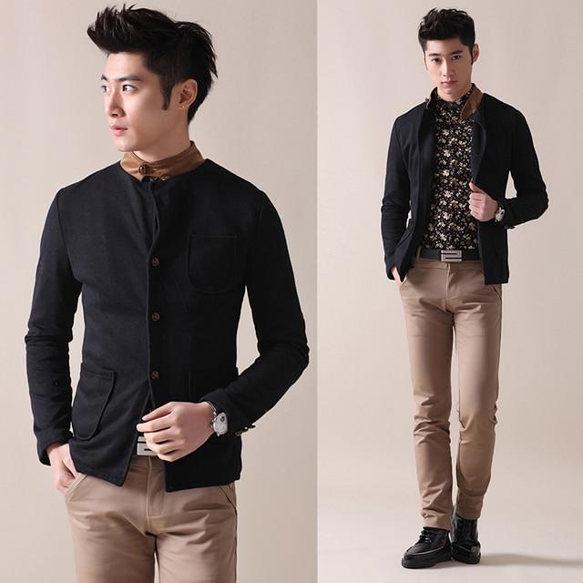 532d155c00 Fresco elegante patchwork rosca macho camisa de pana camisa para hombre de  manga larga ropa hombre