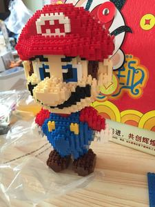 Image 3 - Hc blocos mágicos do mario, jogo popular japonês, personagem, tijolos educativos de construção, modelo yoshi, brinquedos para crianças, brinquedos 9020