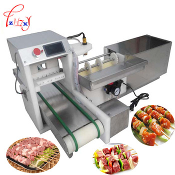 Automatic meat wear mutton string machine business Bbq  skewer machine meat string machine 110v /220v 1pc manual satay skewer machine grilling bbq tools stainless steel mutton kebab lamb skewer doner kebab meat wear string machine