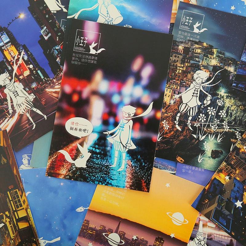 30 Pcslot Luminous Little Prince Postcard Greeting Card Christmas