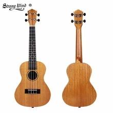 Сильный ветер 23 дюймов Акустическая укулеле маленькая гитара укулеле концертная теннисная гитара из красного дерева 4 струнная гитара для начинающих инструмент