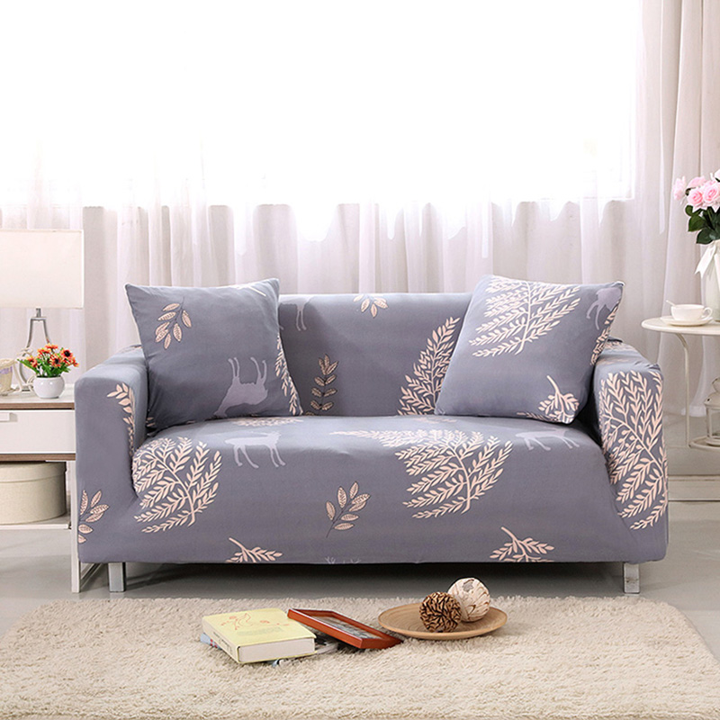 Us 28 61 40 Off Stretch Printed Leaves Sofa Cover Sofa Furniture Cover Big Elasticity Couch Cover Drawing Room Decoration 1piece In Sofa Cover From