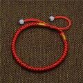 Mdiger Clássico Corda Vermelha Pulseira Corda Vermelha Sorte Chinês Contas Trançadas Pulseiras Presente Moda Cós Preto Pulseiras Homens