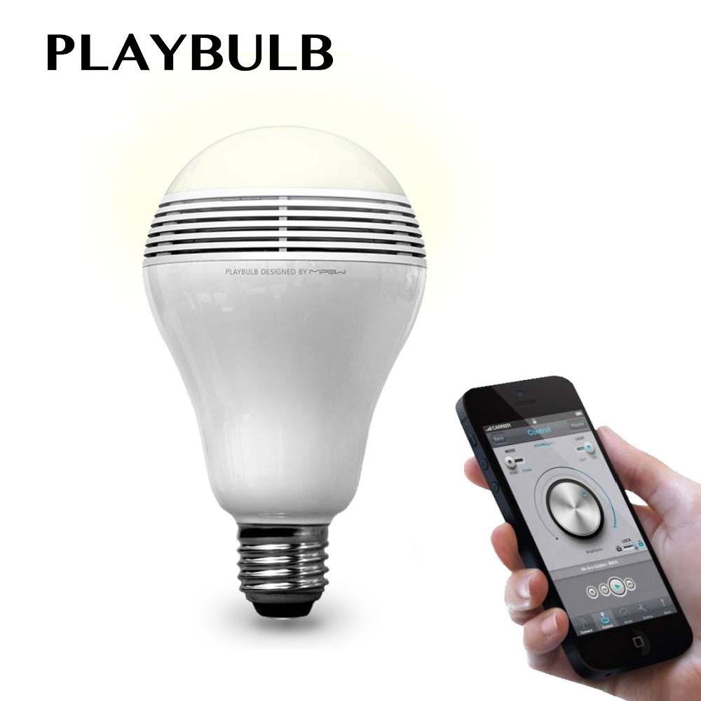 MIPOW PlayBulb Wireless Bluetooth 4,0 Speaker Smart LED New Christmas Party Decorative Light Bulb free App Control 3W 110V -240V mipow e27 bluetooth 4 0 smart led bulb wireless app control 100 240v