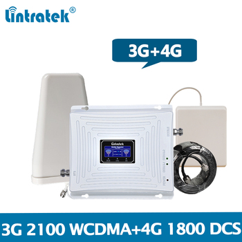 Lintratek Signal Booster 3G Repeater 3G 4G 2100 1800 Amplifier GSM 1800 LTE 1800 WCDMA 2100Mhz Band 1&3 Mobile Phone Booster @7