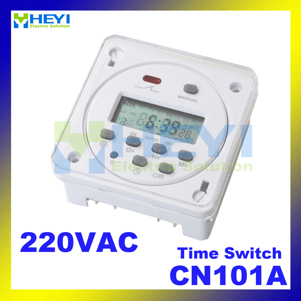 CN101A 220VAC  Digital LCD Power Timer Programmable  Microcomputer control switch time relay nice gifts high power au plug microcomputer control 3in1 programmable digital timer socket