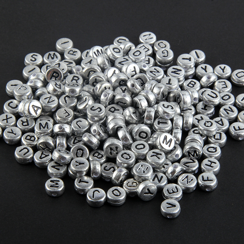 DIY Jewelry 200pcs Mixed Alphabet//Letter Square//Round Acrylic Spacer Loose Beads
