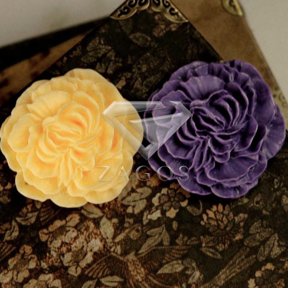 3Pcs Resin Vintage Style Flowers Flat Back Cabochon 33x33x8mm For Jewelry Accessories Wholesale RB0543