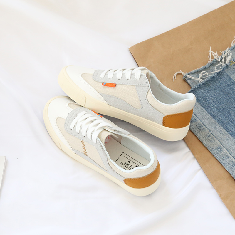 Women sneakers 2018 new arrivals fashion lace-up women shoes solid sewing shallow casual canvas shoes women
