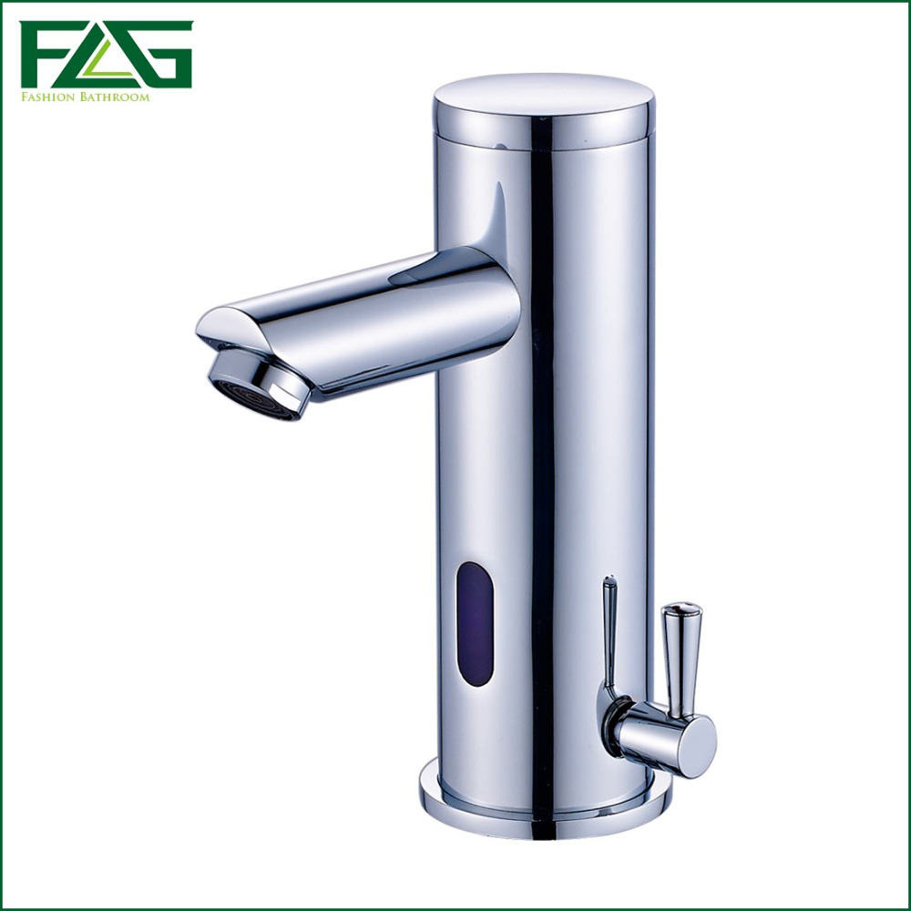 Motion Sensor Faucet Automatic Hand Touchless Tap Hot Cold Mixer ...