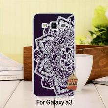 DIY Painted Beautiful phone Accessories For case GALAXY A3 Retro Mandala Flower Datura Floral