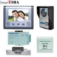 SmartYIBA 7 inch LCD צבע דלת וידאו מערכת אינטרקום טלפון עמיד ראיית לילה מצלמת אבטחת בית משלוח חינם