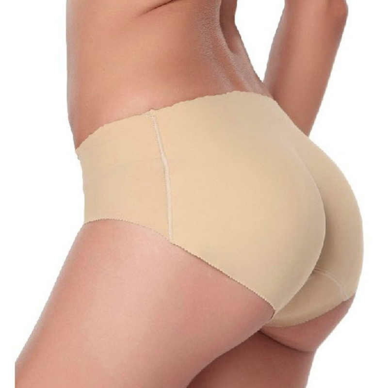 6d6ca8ccb62 Women Soft Seamless Sexy Panty Knickers Buttock Backside Silicone Bum  Padded Butt Enhancer Hip Up Underwear-in women s panties from Underwear    Sleepwears ...