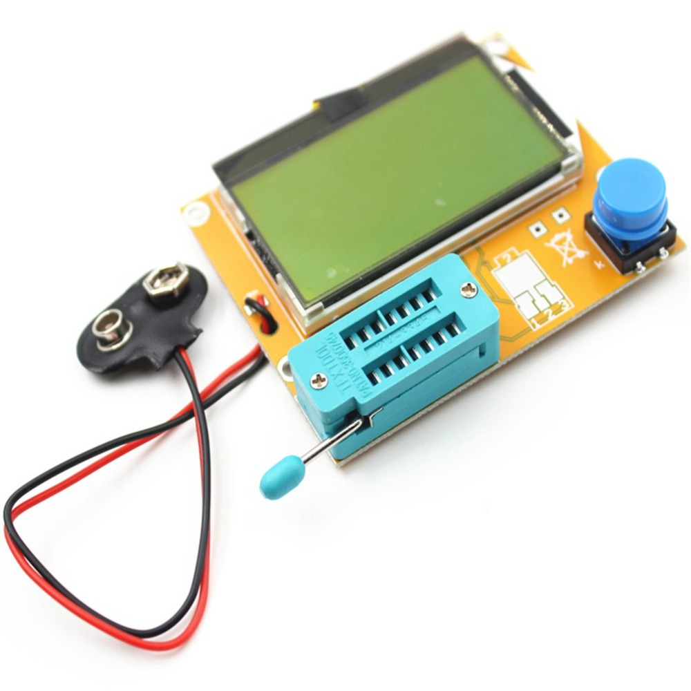 LCR-T4 lcd digital transistor tester medidor luz de fundo triode diodo capacitância esr medidor para mosfet/jfet/pnp/npn l/c/r 1
