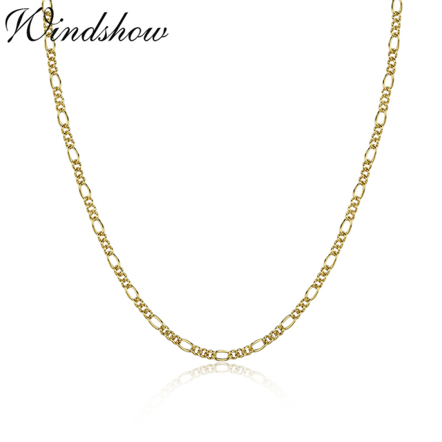 35cm-80cm Slim Thin 925 Sterling Silver Italy Figaro Chains Choker Necklace Women Jewelry kolye collier collares ketting collane