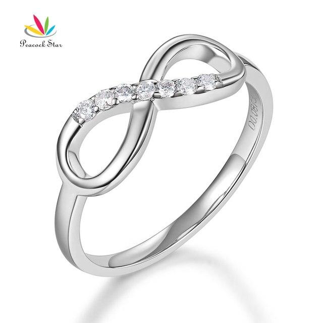 Pea Star Women 14k White Gold Wedding Band Ring 0 08 Ct Diamond Affordable