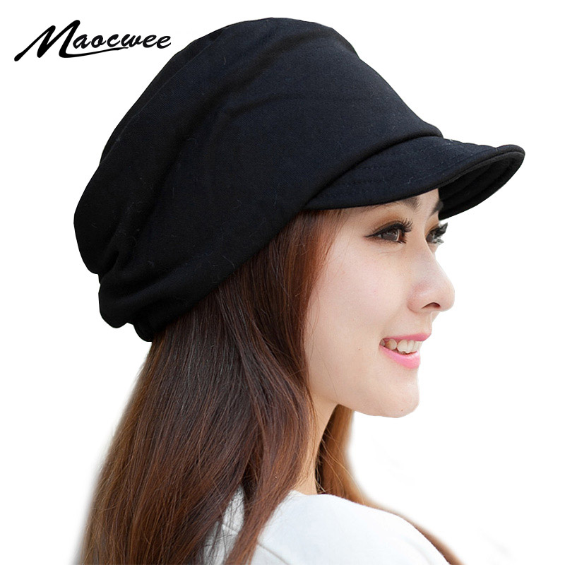 MAOCWEE Women's Hats Along Warm-Cap Beanie Fashion Knitting Girls Winter Hip-Hop-Cap